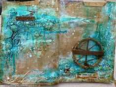 http://ingridscraftscorner.blogspot.ie/2015/04/file-journal-page-2-faux-rusted-wire.html