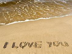 Green Your Wedding - Beliefnet My True Love, Say I Love You, Sand Writing, Beach Words, My Love Poems, Online Photo Sharing, Romantic Themes, Beach Quotes, Beach Sayings