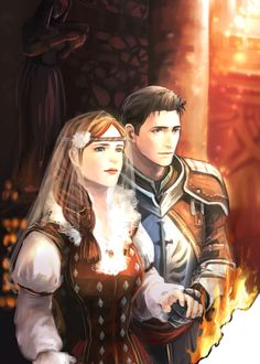 Aveline and Wesley...  I wonder if she would have worn a crown of marigolds, though. ;)