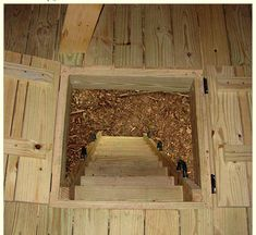 trap door - http://www.treetopbuilders.net/tree-house-portfolio/oh.html