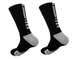 $0.99 (90% Off) on LootHoot.com - Custom Elite Crew Dri-Fit Basketball Socks - 1 Pair - by Bucwild Sports (Black/White)
