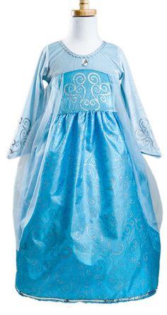 Princess Elsa Inspired Ball Gown Dress - Girls- Frozen Costume - Birthday