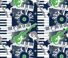 Rock N Roll Baby fabric by jenniferfranklin on Spoonflower - custom fabric