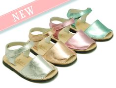 Metal finish avarca or Menorquina sandals with velcro strap, 100% MADE IN SPAIN.