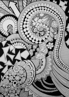 Well this doodle took me a while! I'm pretty sure it's my most intricate design. And I had no idea where I was going when I started. Of course, I rarely do. Now that everyone's been talking about c...