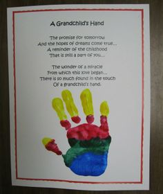 Kids Crafts For Grandparents