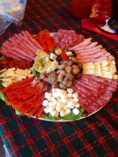 This platter is easy to make. You get to choose what goes on it. It's a good start to the holiday festivities when everyone is waiting on dinner to be served. Serve along side your favorite wine.