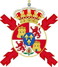 Lesser Coat of arms of Spain and of the Colours.