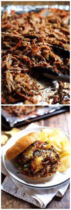 Grilled Pineapple Pork Sandwiches Recipe