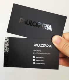 Free Front & Back Business Card in Hand Mockup