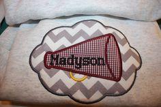 Monogram  applique  Sweatshirt  Cheer  by darceylanedesigns, $29.95