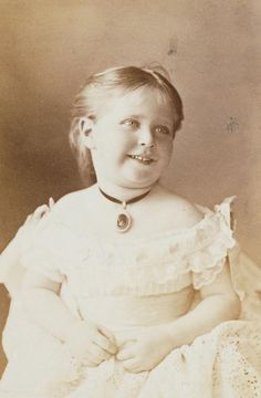 Princess Alix of Hesse, future Empress of Russia, aged about 3, 1875. Princess Alix, known in the family as 'Sunny', was a grandchild of Queen Victoria through Princess Alice of Hesse. She married Tsar Nicholas II of Russia in 1894, and was murdered with him and the rest of her family by the Bolshevicks in 1918. This photo was taken in May 1875 during a stay in England.