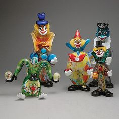 Five #Murano Glass #Clowns with Balloons, Estimate: $400/600 #michaans http://www.michaans.com/highlights/2013/highlights_09012013.php