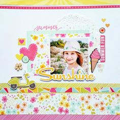 Sunshine layout by Amanda Baldwin featuring Simple Stories : Sunshine and happiness collection