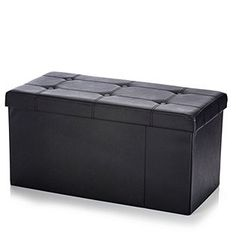 Folding Storage Ottoman Bench with Rigid Dividers