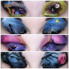 makeup inspired by children's drawings