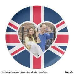 Charlotte Elizabeth Diana - British Will Kate Party Plate  Celebrate the Royal Birth of Princess Charlotte Elizabeth Diana, the daughter of William & Kate - London England, May 2, 2015 - Party and celebrate the new heir to the British throne! The daughter of William Duke of Cambridge & the Catherine, Duchess of Cambridge, sister to George Alexander Louis!  http://www.zazzle.com/cdandc