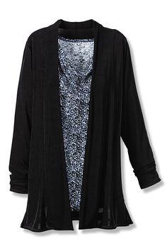 Destinations Drape-Front Cardigan - Women's Jackets | Coldwater Creek