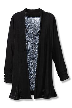 Destinations Drape-Front Cardigan - Women's Jackets | Coldwater Creek