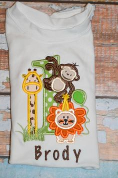 Jungle+1st+Birthday+Shirt+by+SpoiledSweetkids+on+Etsy,+$20.00