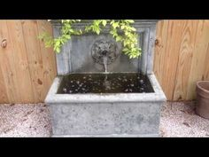 The St. Aubin Fountain creates a soothing sound of falling water to make any patio or courtyard memorable. Listen to the sounds of the St. Aubin Fountain and. Garden Fountains, Waterfall, How To Memorize Things, Patio, Wall, Outdoor, Outdoors, Diy Garden Fountains, Terrace