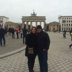 Portão de Brandemburgo em Jan 2015, Berlim - Alemanha.