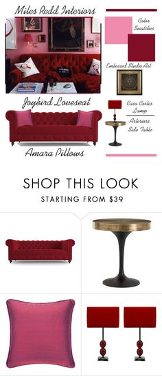 """A Classic Romance"" by latoyacl ❤ liked on Polyvore featuring interior, interiors, interior design, home, home decor, interior decorating, Joybird, Arteriors and Casa Cortes"