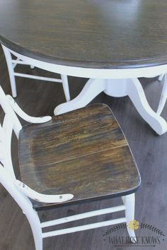 Farmhouse Style Painted Kitchen Table And Chairs   Chalk Paint Was Not Used!