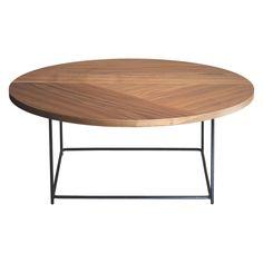 CORALIE Low walnut coffee table