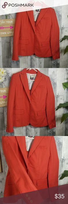 Vince Camuto Blazer Orange blazer great for the office  Good condition Vince Camuto Jackets & Coats Blazers