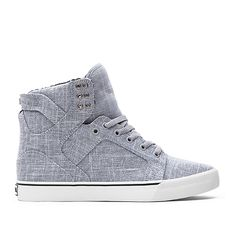 SUPRA SKYTOP | GREY - WHITE | Official SUPRA Footwear Site  (All three linen styles.)