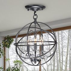 Shop Wellyer  HG-6626 Nair 3-Light Foyer Semi Flush Mount at ATG Stores. Browse our foyer lighting, all with free shipping and best price guaranteed.