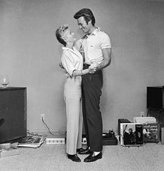 7/21/14  11:46a Clint Eastwood  and  his First Wife Maggie This Pic  taken  1/01/1965  while Dancing and Playing Records by Hulton Archive on Getty Images