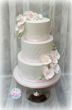 Weddingcake orchids by Sam & Nel's Taarten