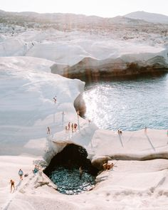 Moonscapes of Sarakiniko in Milos, Greece Sarakiniko beach at sunset in Milos, Greek Islands via Find Us Lost Places To Travel, Travel Destinations, Places To Go, Time Travel, Wallpaper Paisajes, Sarakiniko Beach, Travel Aesthetic, Adventure Is Out There, Greece Travel