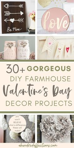 Looking for some Valentine's Day DIY projects to get ready for the main event! I've got you covered! Here you'll more than 30 projects you can choose from - for all skill levels, many super-easy for beginners! Click to add rustic farmhouse Valentine's Day love to your house today! #valentinesday #diy #homedecor #craft #farmhouse #rustic #crafts