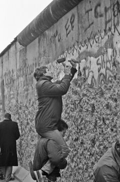 When the gates were opened in 1989, people used picks and sledgehammers to destroy the wall until bulldozers were hired to remove the rest of it.