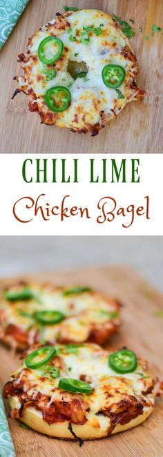 Chili Lime Chicken Bagel