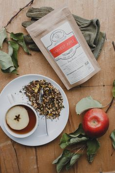 Handcrafted Harvest Apple Organic Tea With Apples, Nettle Leaf & Sunflower Petals - Makes Cups Of Tea by Winterwoods Tea Company on Gourmly Cinnamon Tea, Cinnamon Chips, Chai Tea Recipe, Organic Loose Leaf Tea, Apple Tea, Apple Chips, Apple Harvest, Dried Apples, Food Photography