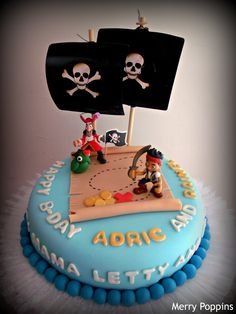 Jake and the Neverland Pirates cake, possible idea for twins cake