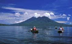 Lake Atitlán, Guatemala  Set up in the Guatemalan Central Highlands, and bordered by three volcanoes, Lake Atitlán is the deepest lake, at 1,114 feet, in Central America. Along with its natural beauty, the lake is famous for the Maya villages that ring its shores, many of which have been there for centuries.