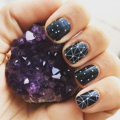 @marsie_jeanne has an out of this world mani! Talk your consultant to see our other #galaxyinspired wraps. #Jamberry #AmongTheStarsJN