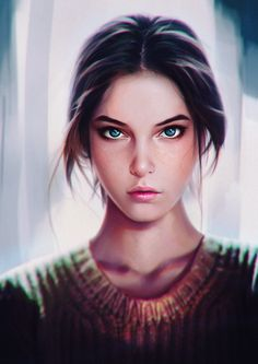 ArtStation - Barbara Palvin Painting Study, Jacob Max