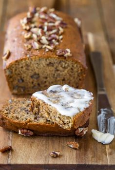 Moist banana nut bread recipe makes delicious banana bread! Add nuts, chocolate chips, or other mix-ins for the perfect banana bread!