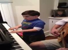 Ethan, a 6-year-old with autism, plays Piano Man. This is just so inspiring! God bless this family!