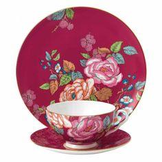 Wedgwood - 'Tea Garden' Collection - Raspberry 3 Piece Set