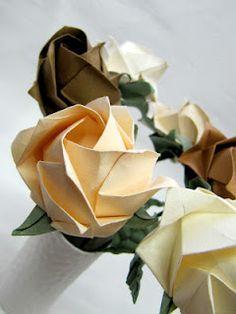 origami ···rosas Kawasaki, detalle (Always wanted to make oragami)