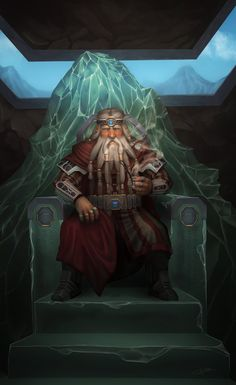 Dwarf King of the Mountain by grenias on deviantART