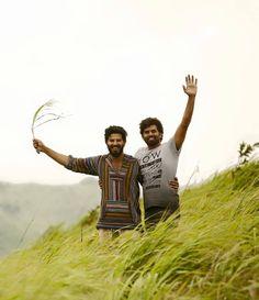 Sunny Wayne visits Dulquer at Charlie location-2618 Charlie Malayalam movie 2015 stills-Dulquer Salman,Parvathy