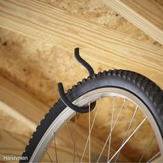 Whether you use your bike daily or once in a while, a bike can be a bulky and awkward item to store. Save space and clutter in your garage by installing a bike mount and storing your bike up and off the garage floor. Don't forget to include in your plan a spot to keep helmets, locks and other accessories close by.